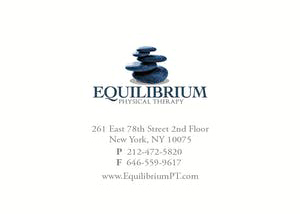 Equilibrium Physical Therapy Business Card