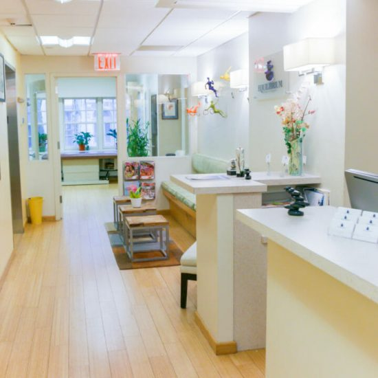 Equilibrium Physical Therapy Front Desk & Hallway